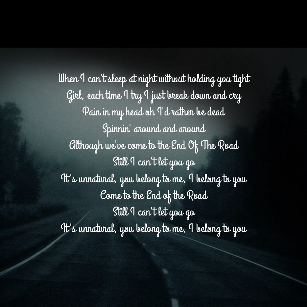 BOYZ II MEN- End of the Road | Music Quotes | Music quotes, Songs