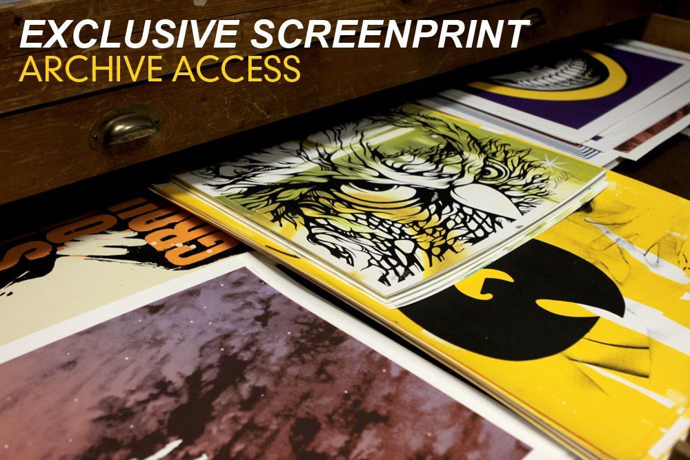 Exclusive Screen Print Archive Access by 1xRUN Presents