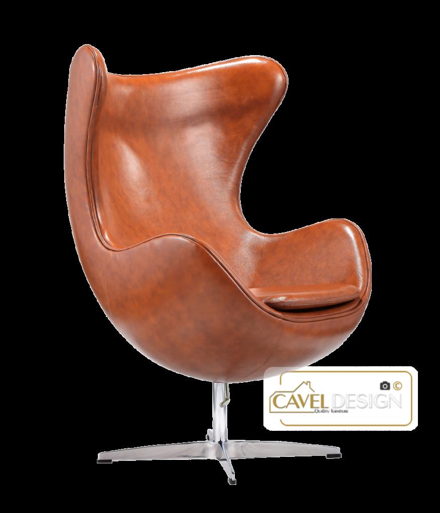 Egg Chair Cognac Leer Al Vanaf 799 Gratis Verzending