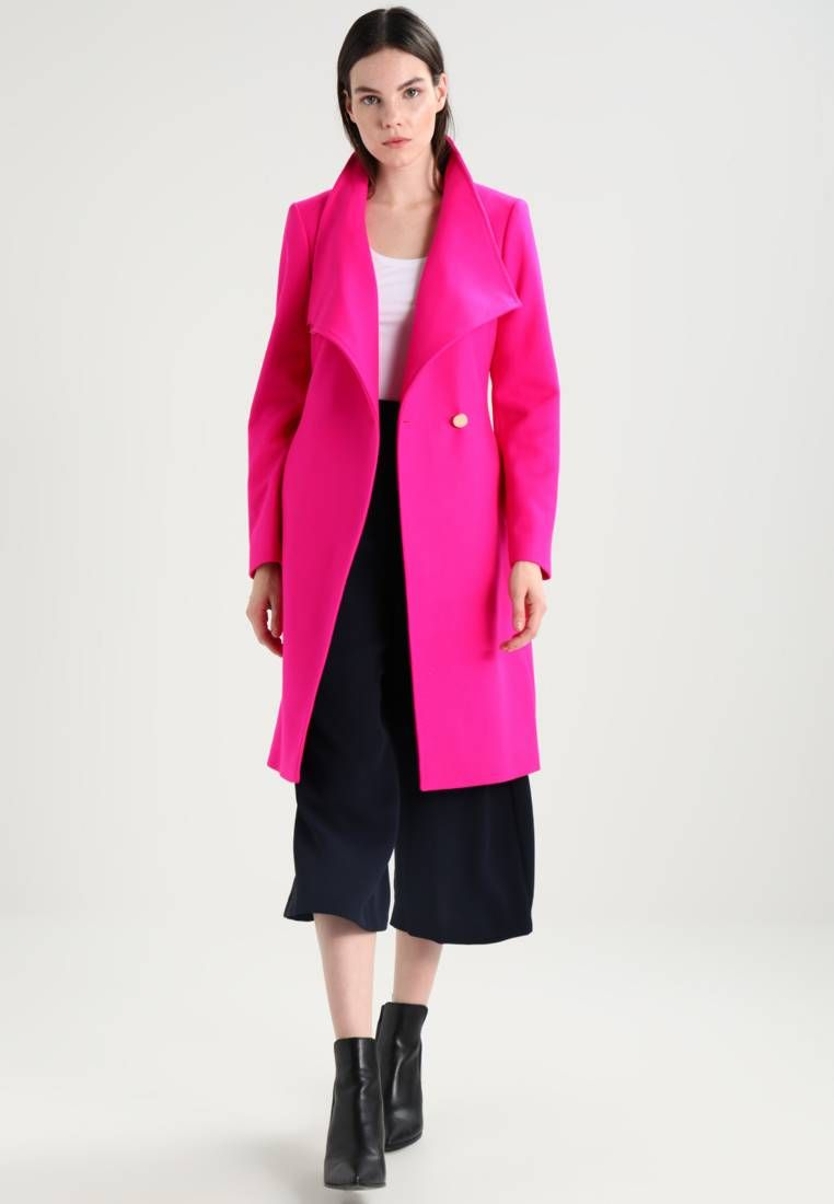 ed9af4d73c6f97 Ted Baker. KIKIIE LONG WRAP COAT - Classic coat - fuchsia. Outer fabric  material