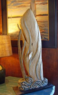 Breaching Whale Wood Carving By Jac Amp Patricia Johnson Skipjacks Marine Art Wood Carving