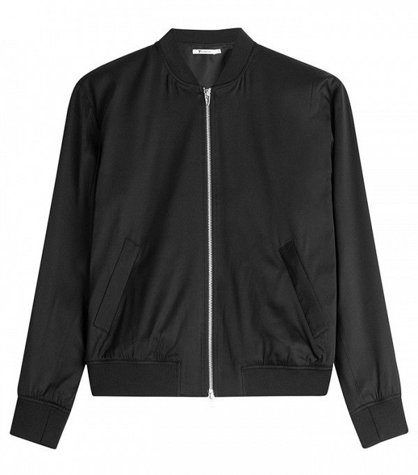 T by Alexander Wang Silk Bomber Jacket
