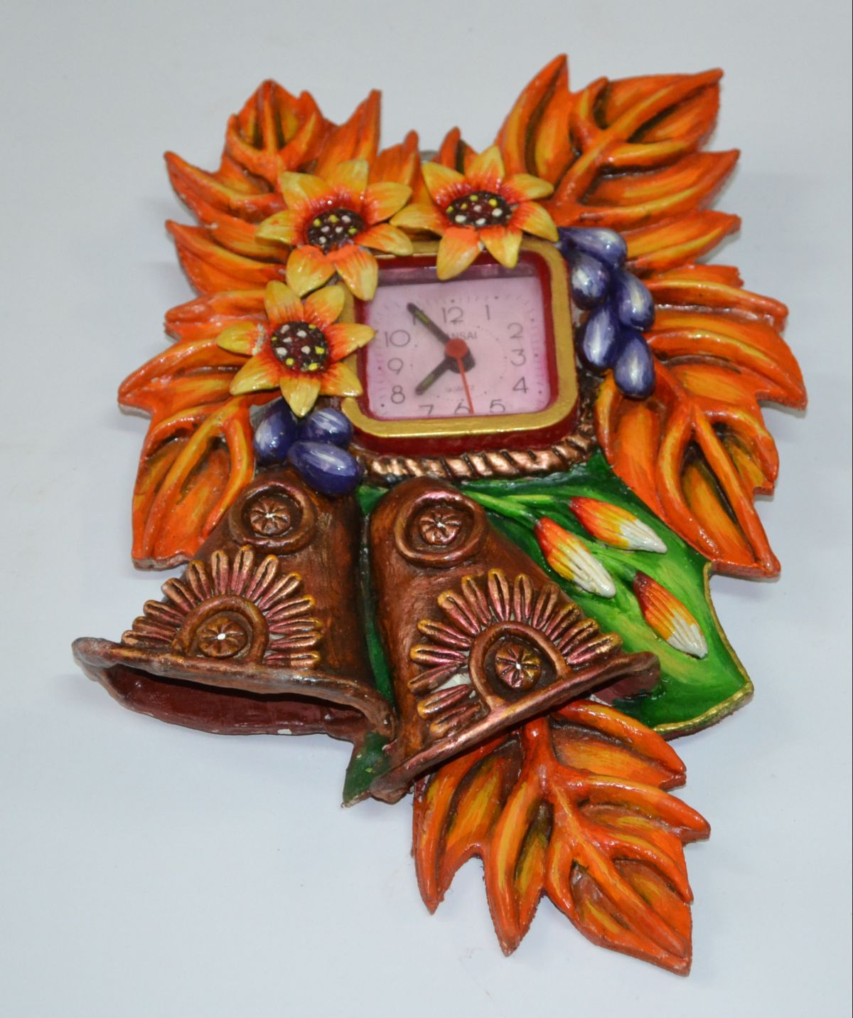 Handmade paper mache wall clock buy with 26 discount offer from handmade paper mache wall clock buy with 26 discount offer from craftshopsindia amipublicfo Images