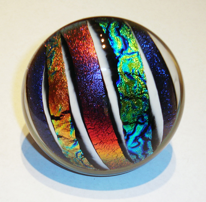 painted glass cabunet knobs | Dichroic Strips on White | Art ...