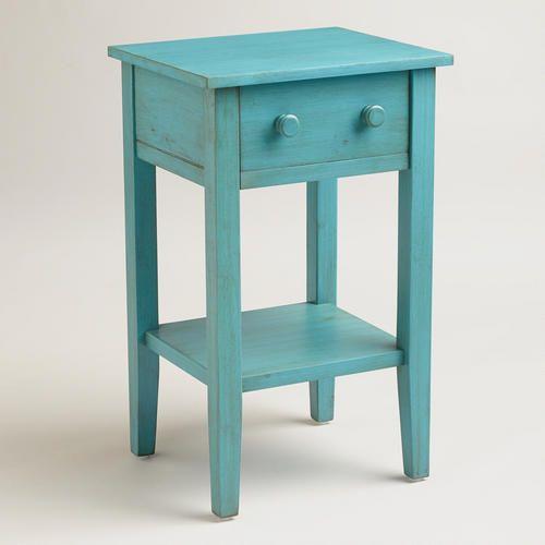 Sky Blue Sara Nightstand World Market Blue Nightstands Wooden Nightstand Furniture