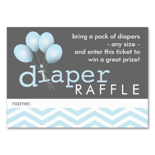Modern Baby Shower Diaper Raffle Ticket Insert Business Cards
