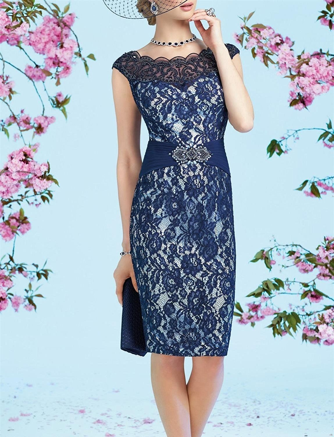 Newdeve Chiffon Mother Of The Bride Dresses Tea Length Two Pieces ...