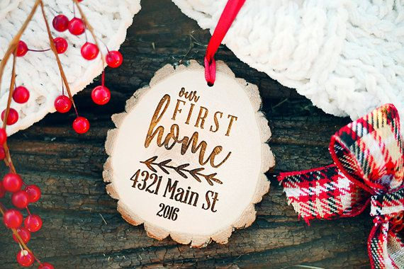 Our First Home Christmas Ornament.Our First Home Ornament Rustic Our First Home By