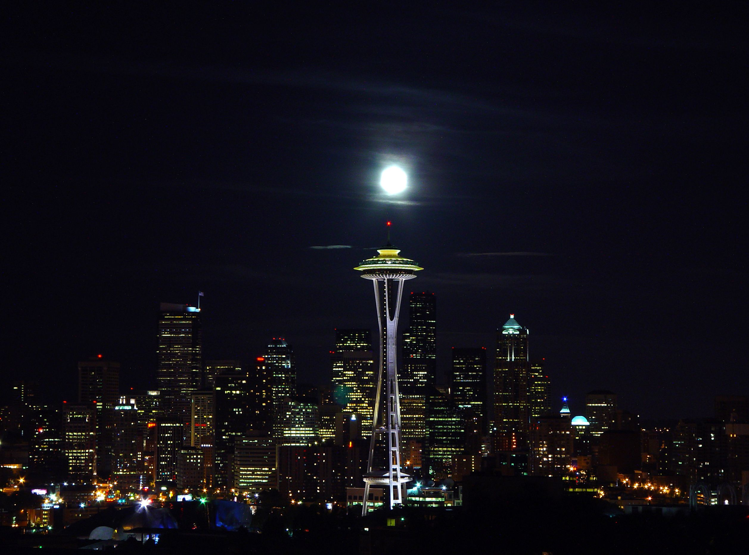 The Seattle Space Needle has a revolving restaurant at the top. Great food and the view? Priceless