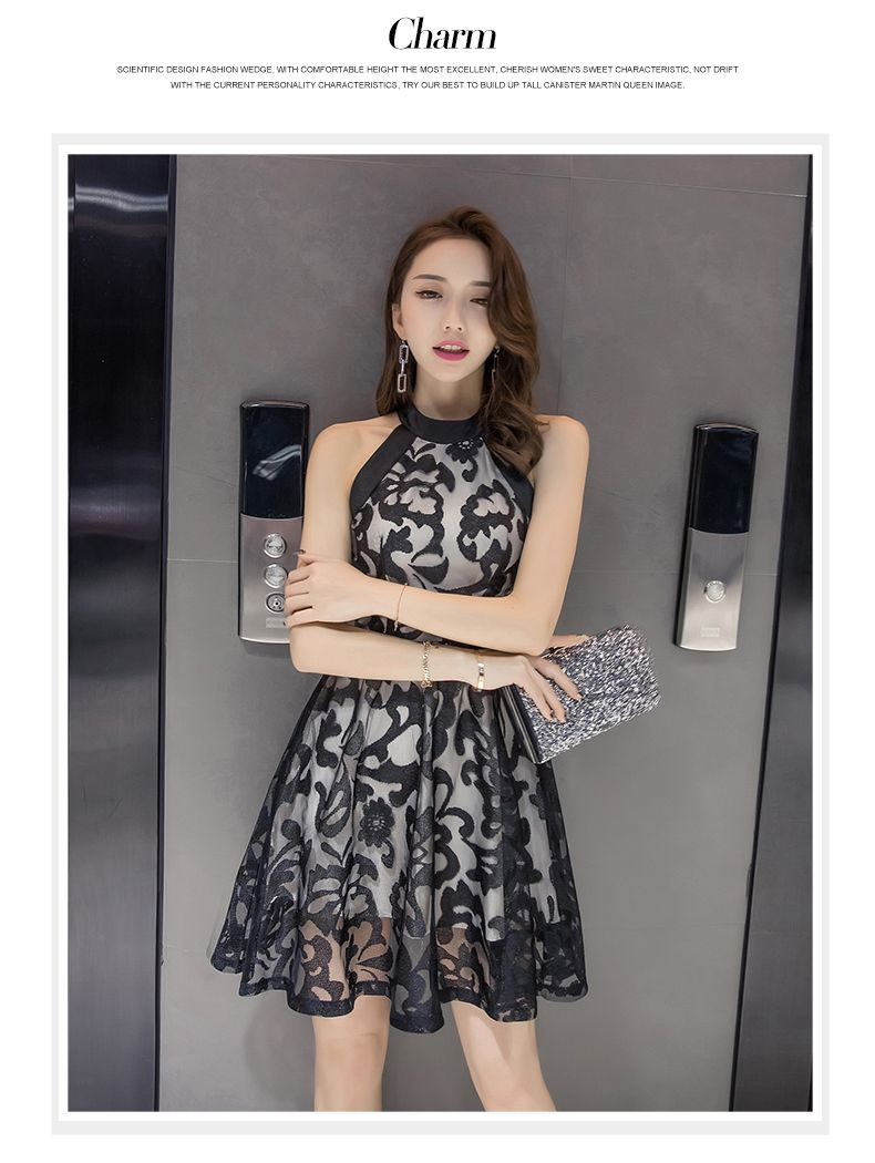 7448e472682b Fashion summer New style sleeveless dress (Black)