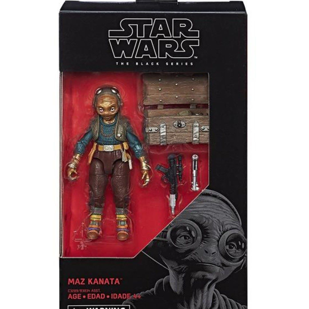 "STAR WARS THE BLACK SERIES MAZ KANATA 6/"" ACTION FIGURE TOY"
