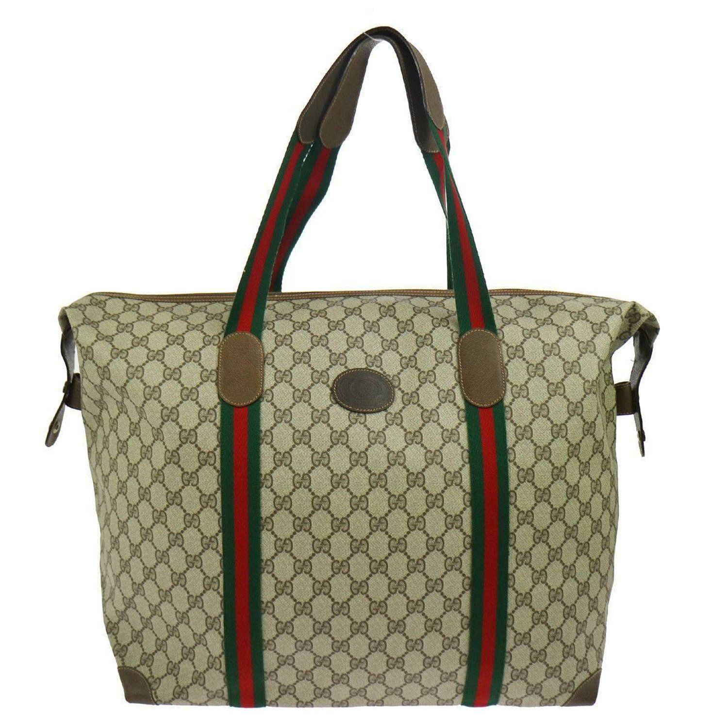 316f9695 Gucci Monogram Canvas Men's Weekender Carryall Duffle Travel ...