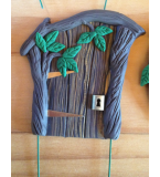 Wonky Fairy Door with Leaves from #themagictoybox $10.50