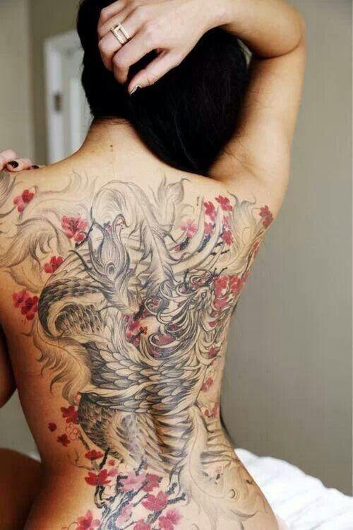 photo tattoo tres feminin phoenix japonais tattoo. Black Bedroom Furniture Sets. Home Design Ideas