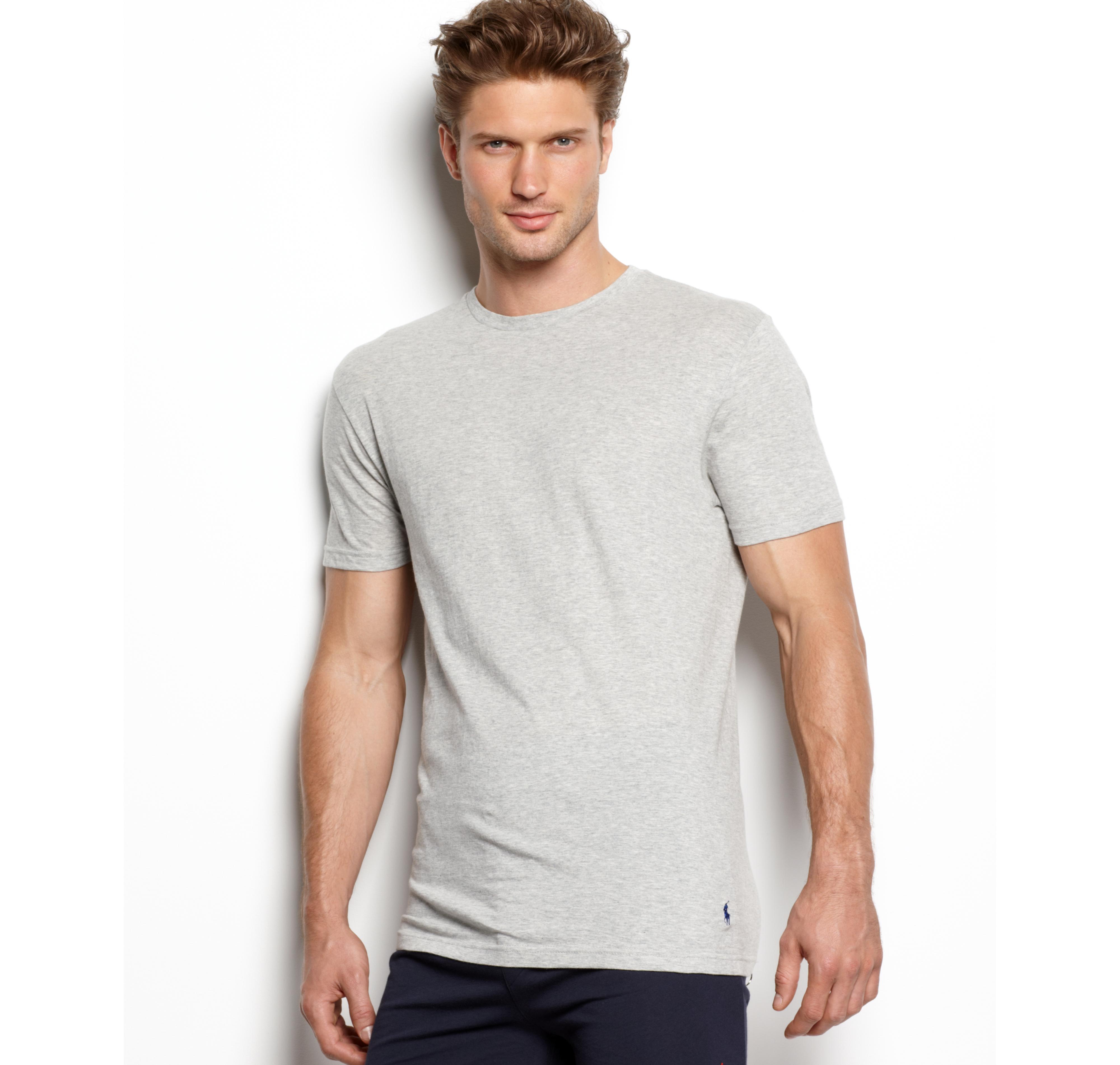 Men's Undershirt, Slim Fit Classic Cotton Crews 3 Pack