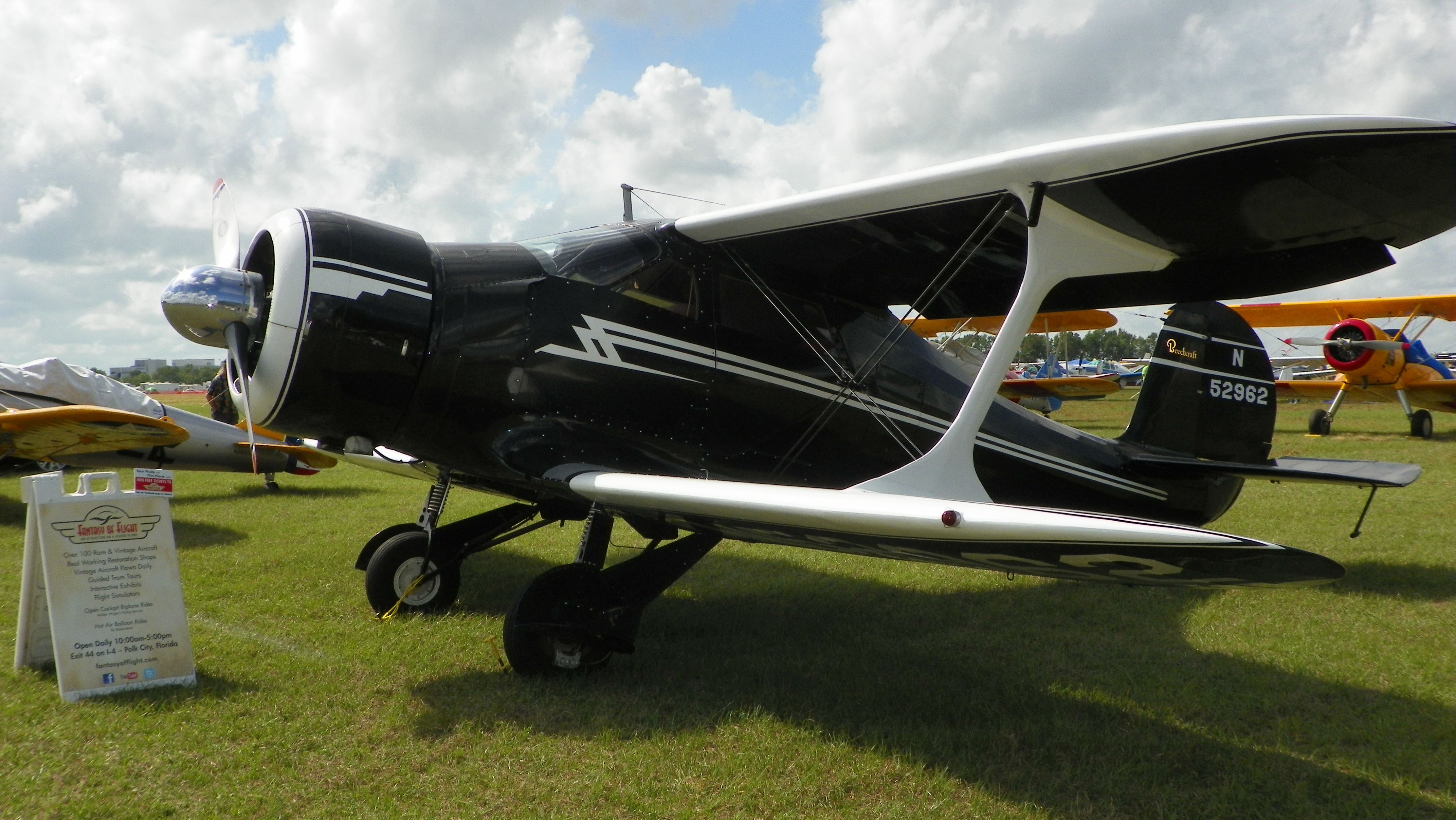Beech Staggerwing from our collection on loan to the