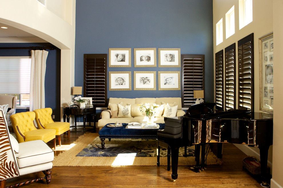 20 Amazing Blue Black White Yellow Living Rooms Home Design Lover Accent Walls In Living Room Blue Accent Walls Yellow Living Room