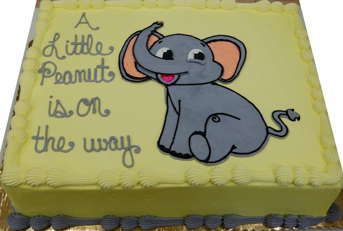 Baby Shower Cakes With Elephants ~ Baby shower elephant sheet cake google search baby shower cake