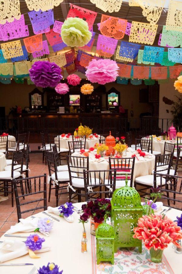 Mexican Wedding Decor Mexican Theme Wedding Mexican Themed