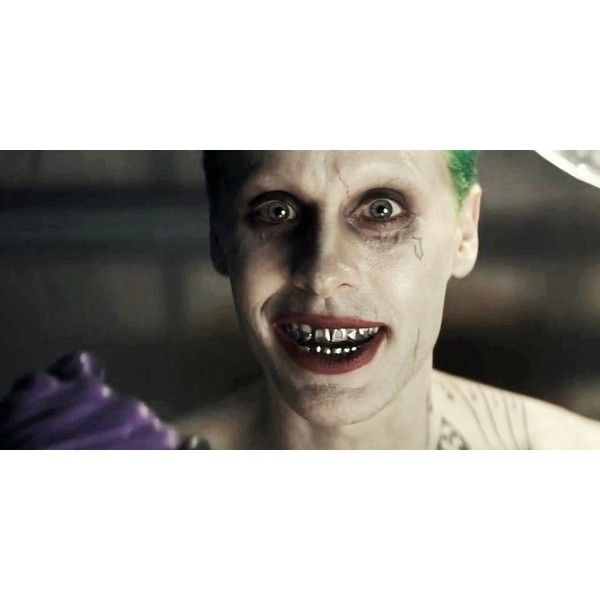 Suicide Squad Actress Says Jared Leto Joker is 'Mesmerizing' ❤ liked on Polyvore featuring dc comics