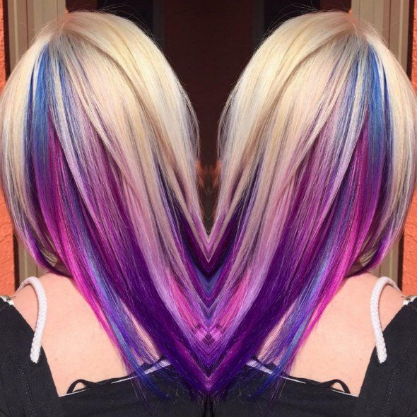 Trick Your Conservative Office With This Underlights Rainbow Hair