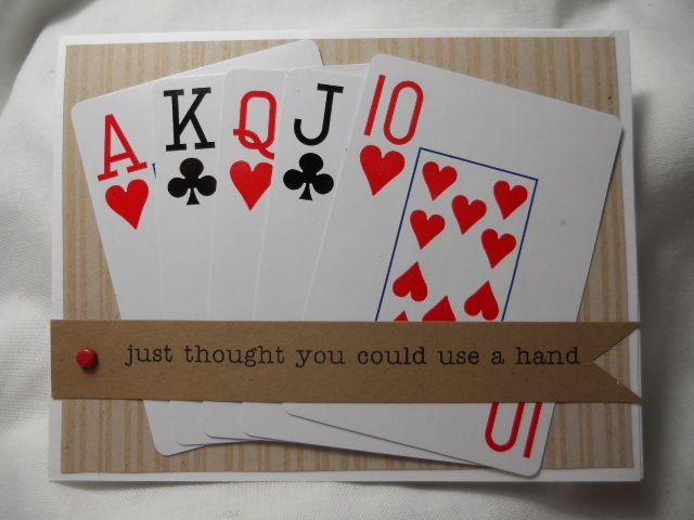 Pin By Linda Guild On My Cards Playing Card Crafts Creative Cards Cards