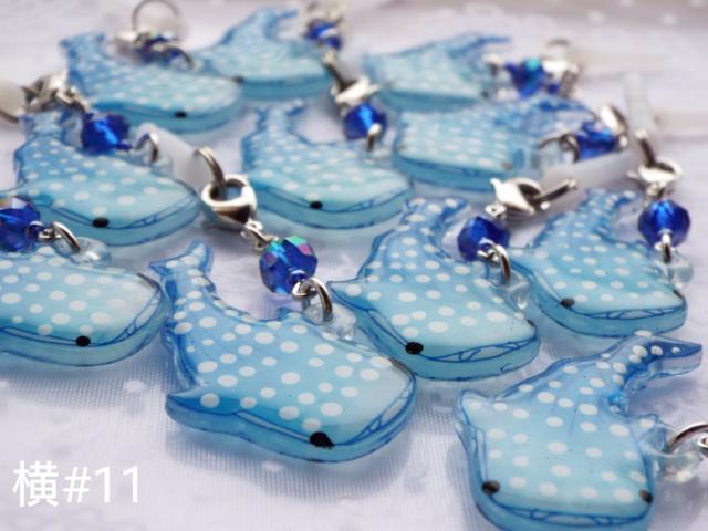 再販 17 ジンベイザメ 横泳ぎ ストラップ ジンベイザメ 手帳 イラスト アクセサリー