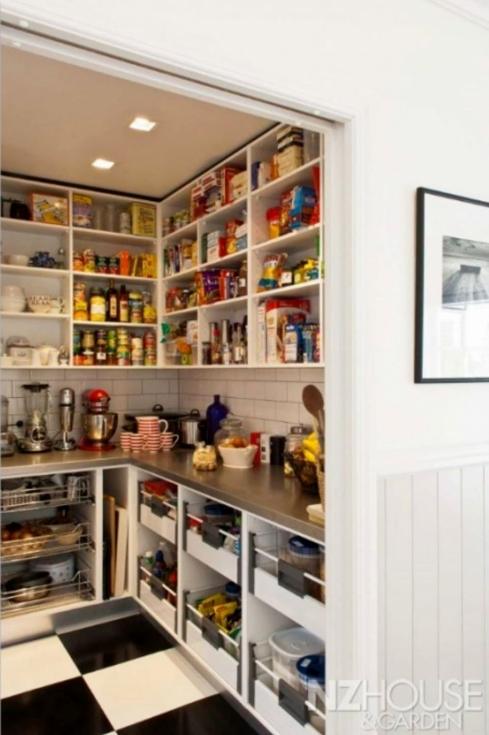 Counter top space in pantry to keep all the appliances off the