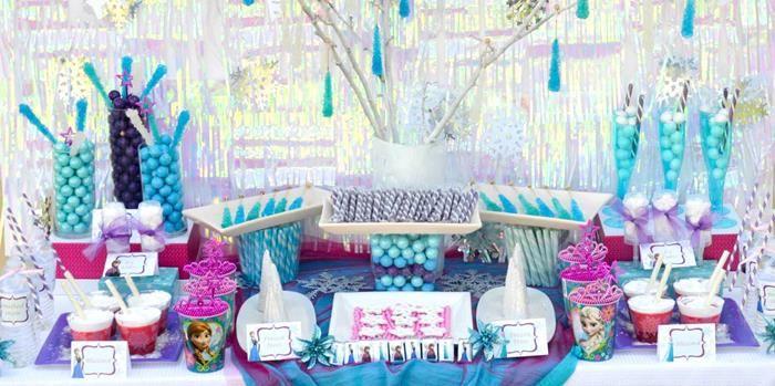 Disneys Frozen Themed Birthday Party Supplies Decor Ideas