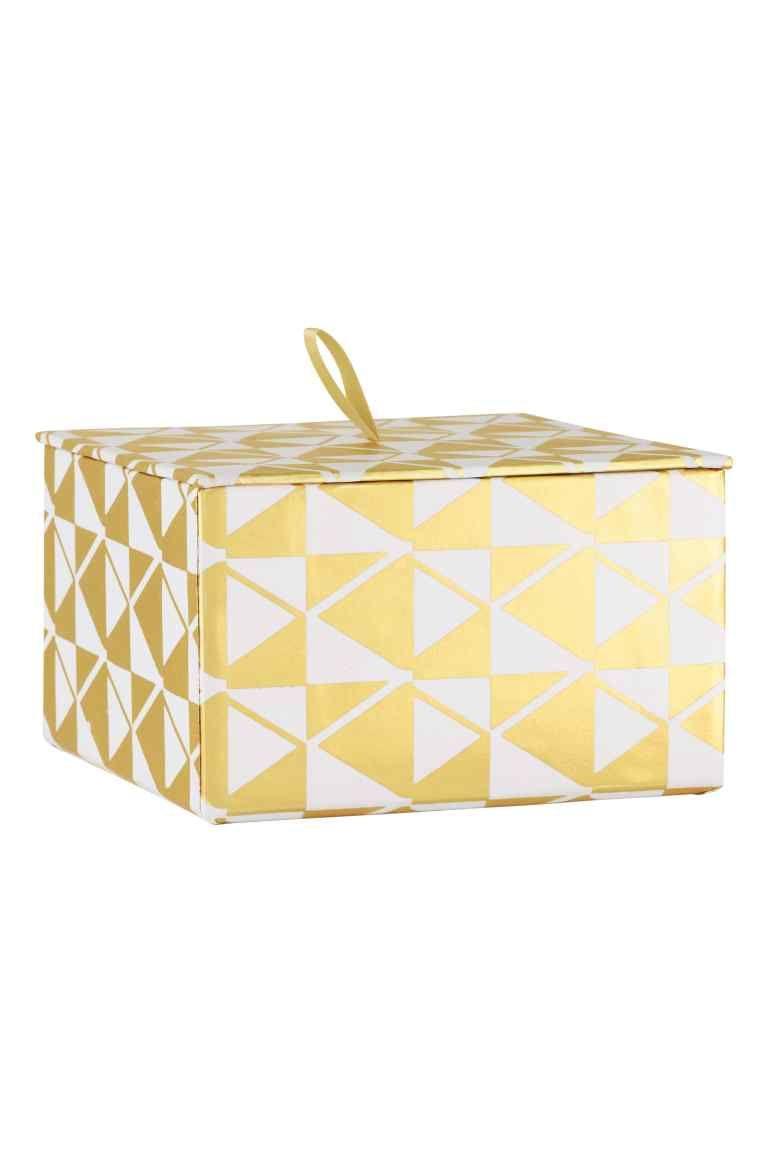 boîte de rangement: boîte de rangement en carton avec motif imprimé