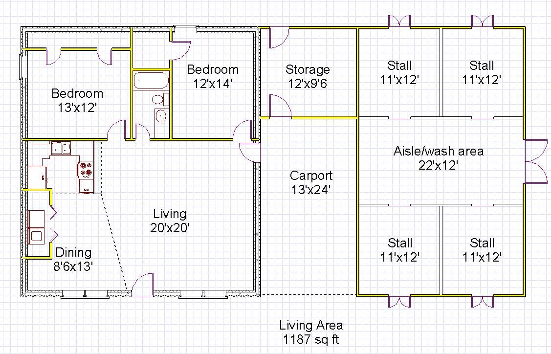 Superior Explore Spacious Living Room, Living Spaces, And More! House Barn  Combination Designs ...
