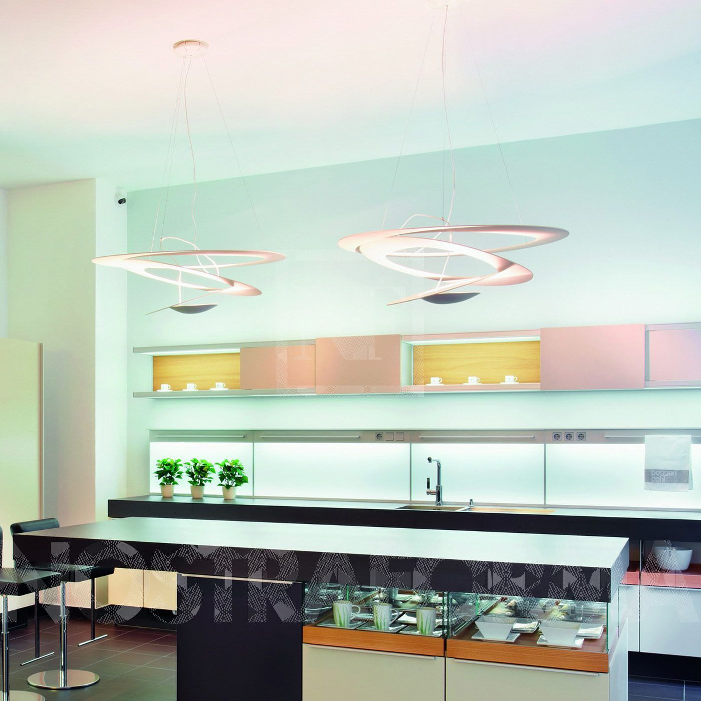 Suspension Moderne Artemide Pirce Suspension Lighting Contemporary Light Fixtures