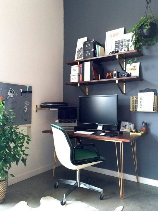 Daniel S Diy Desk And Office Space Renovating Office
