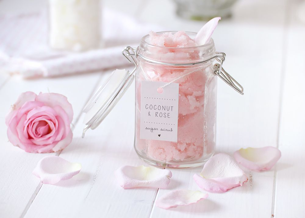 diy body scrub mit rosenwasser limette kokos l diy. Black Bedroom Furniture Sets. Home Design Ideas
