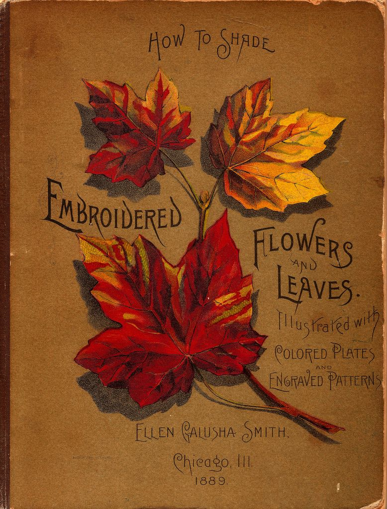 Embroidered Flowers and Leaves...Ellen Galusha Smith 1889