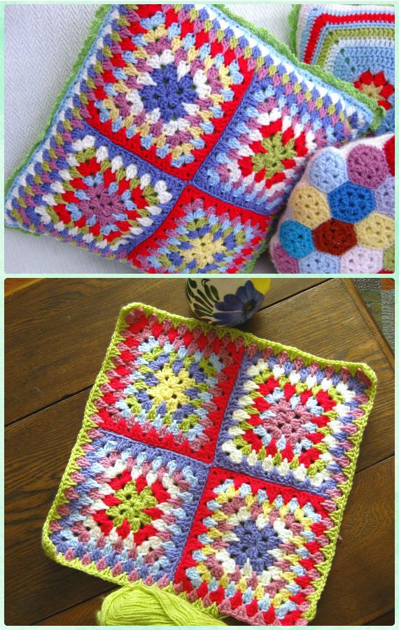 Crochet Granny Spike Stitch Square Free Pattern | Ponchos | Pinterest