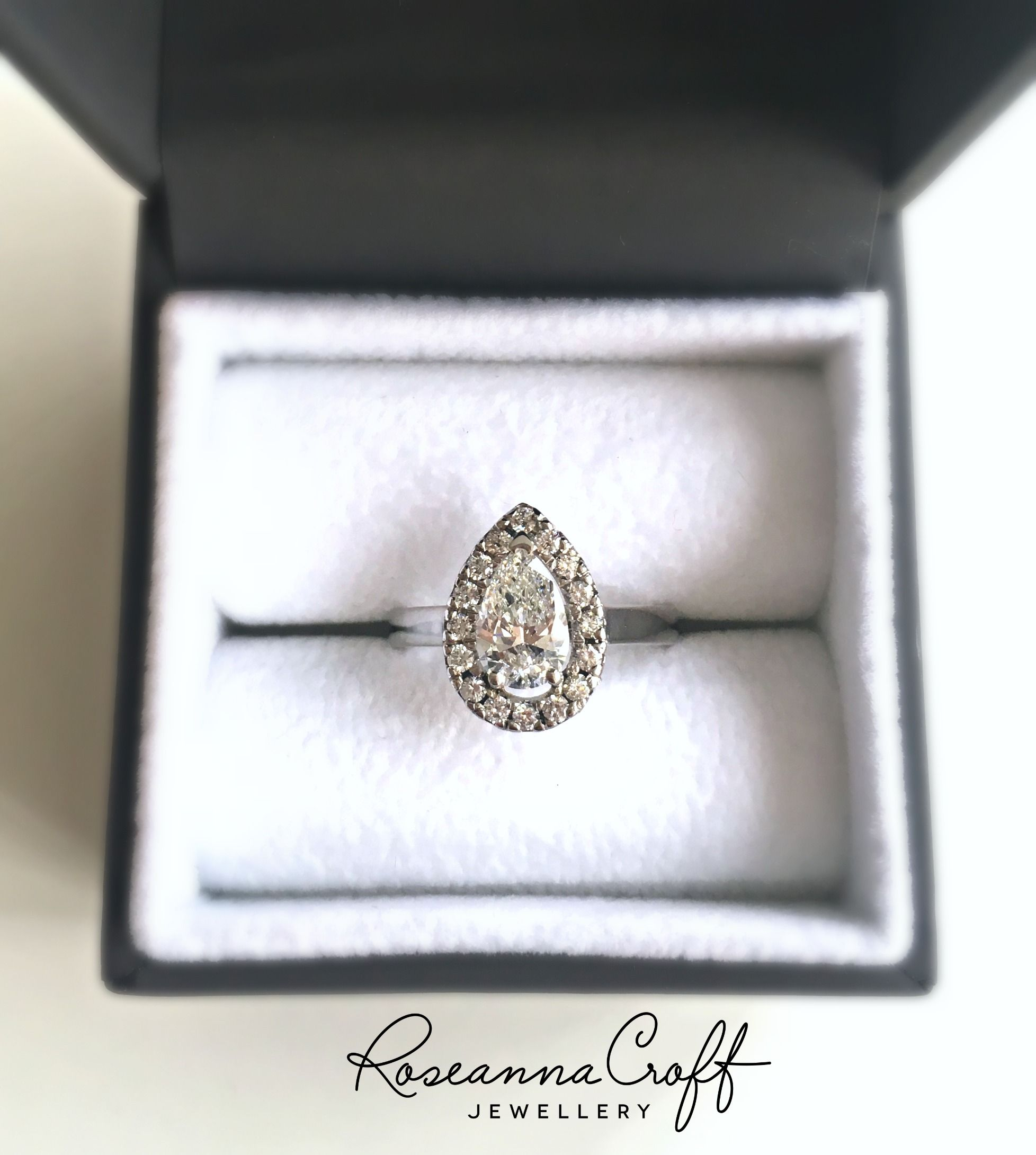 pear princess cut winston k harry gold in cute ring engagement vintage wedding shaped rings rose stone