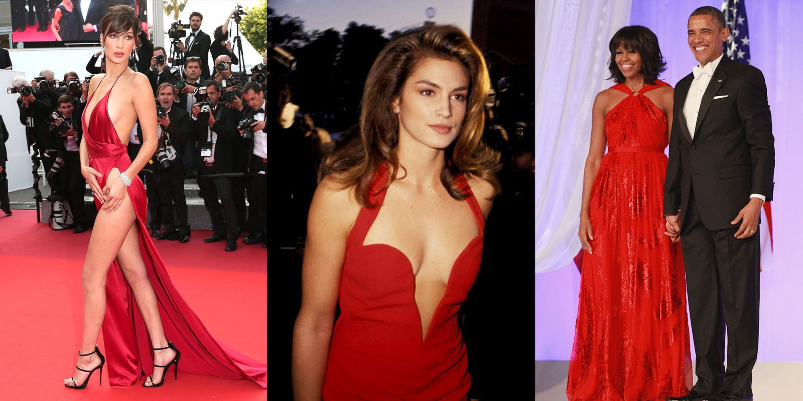 31 Iconic Red Dress Moments Elle