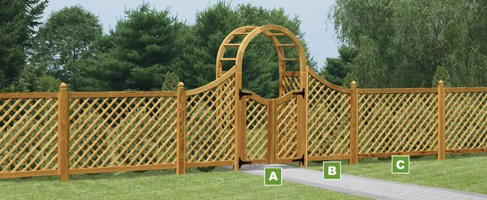 Gentil How To Make A Lattice Style Fence   Google Search
