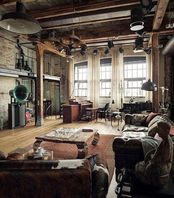 40 Incredible Lofts That Push Boundaries: 32 Stylish Interiors All Men Will Love