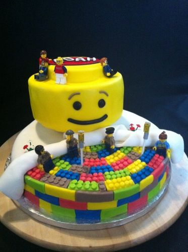 birthday, party, lego, anniversaire, wedding cake, pâte à sucre