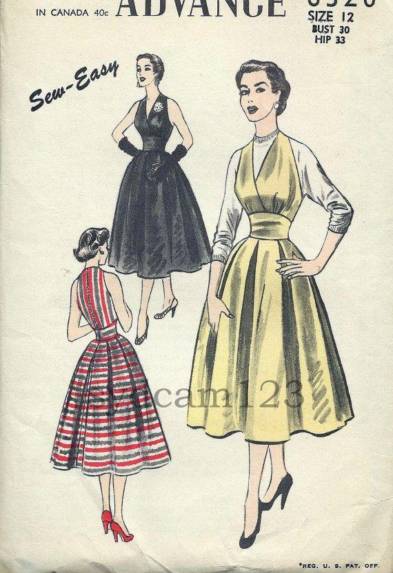 1953 Halter Dress with zipper back