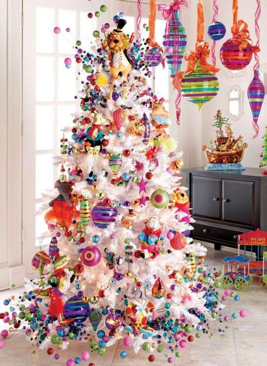Decoración para árboles de Navidad blancos En estas épocas, El