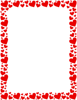 Red Heart Border
