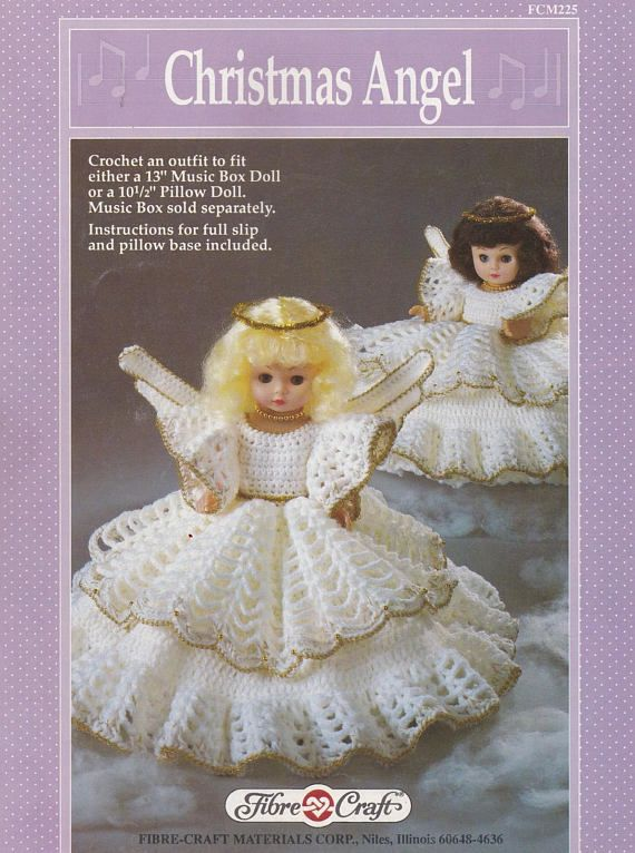 Christmas Angel Fibre Craft Crochet Doll Clothes Pattern Christmas