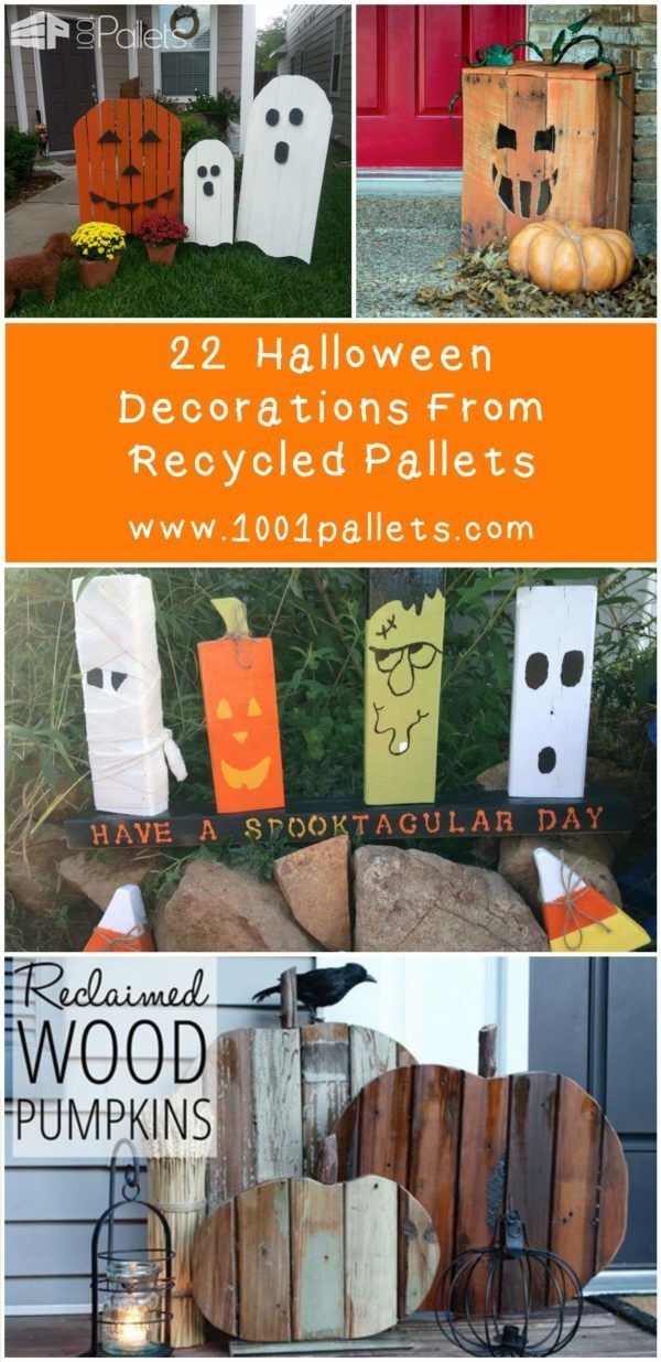 22 halloween decorations made out of recycled pallets as you know its halloween time and to