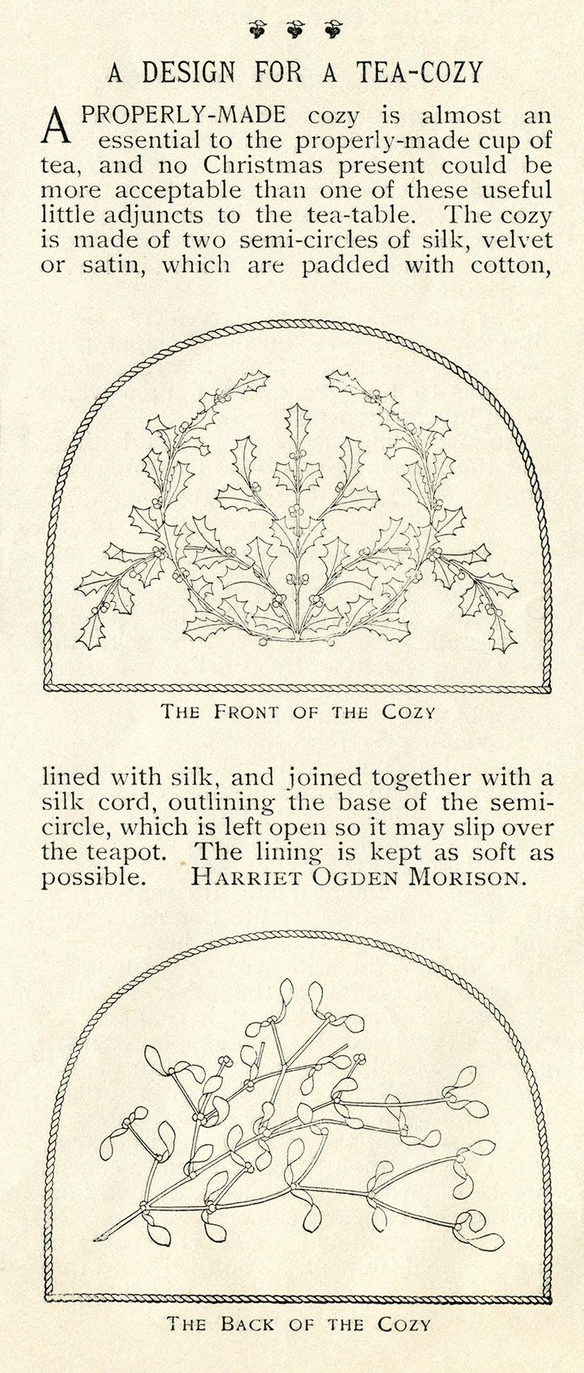Holly And Mistletoe Free Printable Vintage Christmas Clip Art
