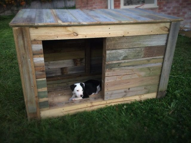 DIY And Craft Ideas: 7 DIY Pallet Doghouse Ideas · Pallet Dog HouseWooden  ...