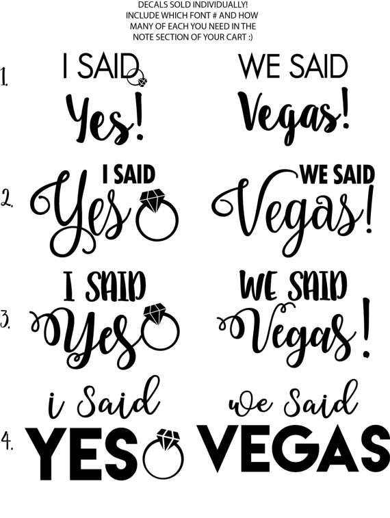560cf92ec6 We Said Vegas Iron On Decals Make Your Own Vegas Bachelorette ...