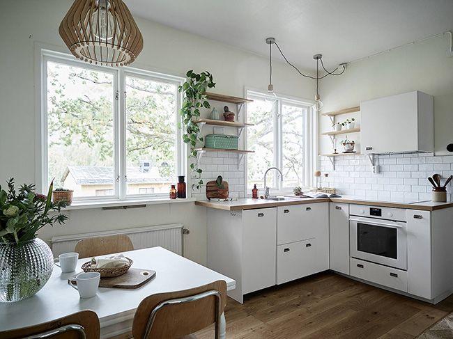 Inspírate una cocina blanca con toques MINT Cocinas decoracion